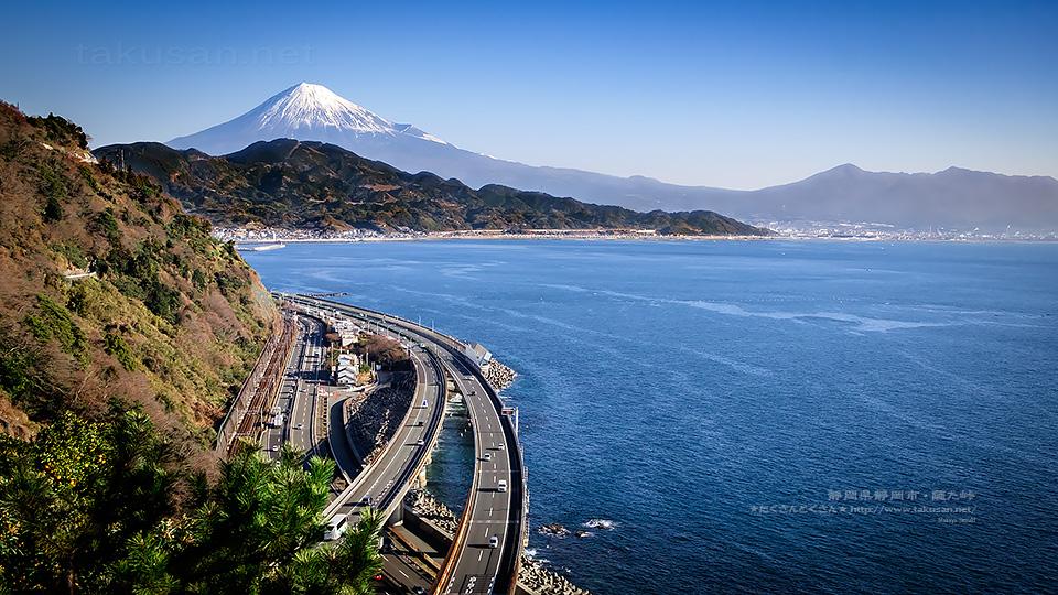 薩た峠から望む富士山
